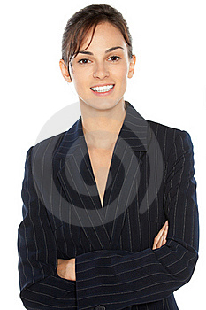 Cheerful Business Woman Royalty Free Stock Images - Image: 20871119