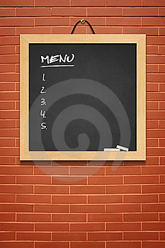 Menu Boards, Small Black Stock Images - Image: 20880744