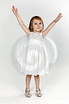 Little Girl With Angel Wings In The Studio Royalty Free Stock Photo - Image: 20881255