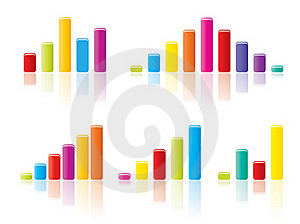 Colourful Graph Concepts Royalty Free Stock Photos - Image: 20885758