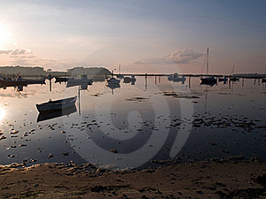 Reflection Of A Small Dinghy Dory Boats Royalty Free Stock Photography - Image: 20893337