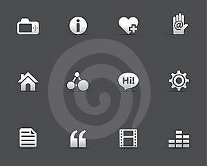 Web Icons - Personal Portfolio Royalty Free Stock Image - Image: 20893976