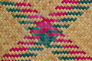 Texture Of Thai Native Weave Mat Royalty Free Stock Images - Image: 20898139