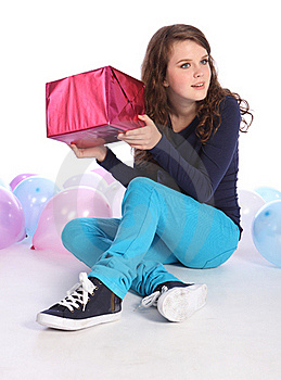 Surprise Mystery Birthday Present For Teenage Girl Stock Photos - Image: 20898243