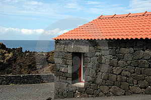 Old Azores Home Built In Stone Stock Image - Image: 2091301
