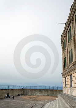 Exercise Yard At Alcatraz Stock Photo - Image: 2092600