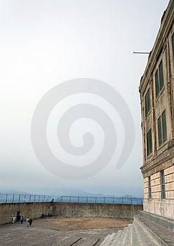 Αυλή άσκησης σε Alcatraz Στοκ Εικόνες - εικόνα: 2092600