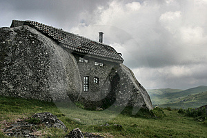 House in the mountain Stock Image