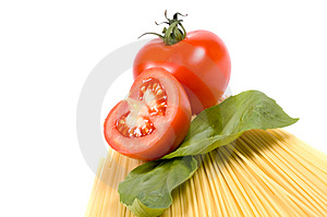 Spaghetti Inclinés Photo stock - Image: 2093700