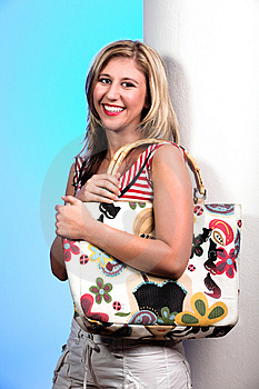 Blond With Bag 5 Stock Photos - Image: 2094663