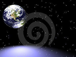 Earth / Star Scape Stock Image