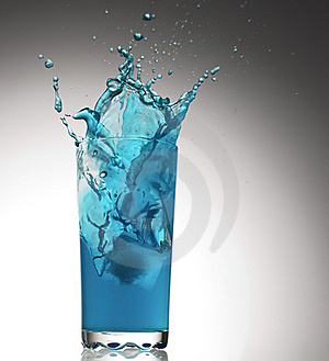 Splashes From A Glass With Water Stock Images - Image: 20902484