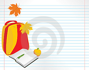 School Accessories On The Notebook Pages Royalty Free Stock Images - Image: 20903609