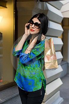 Shopping Girl Walking Outdoor Stock Photos - Image: 20904753