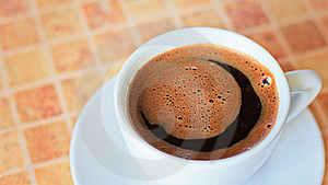 Coffee In White Cup Close Up Royalty Free Stock Photography - Image: 20907537