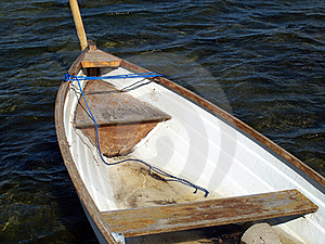 Small Fishing Boat Dory Rowboat On Water Stock Images - Image: 20911654
