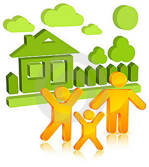 Sticker With Family Stock Image - Image: 20911861