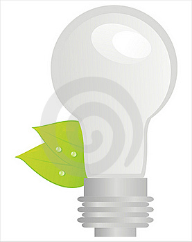 Ecological Lamp With Leaves Stock Photo - Image: 20919910