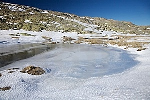 Iced Lagoon At Gredos Stock Photos - Image: 20928773