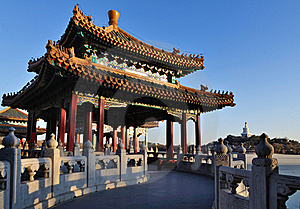 The Beihai Park Five-Dragon Pavilion,Beijing Stock Photos - Image: 20931953