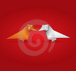 Origami Couple Bird Stock Photography - Image: 20931992