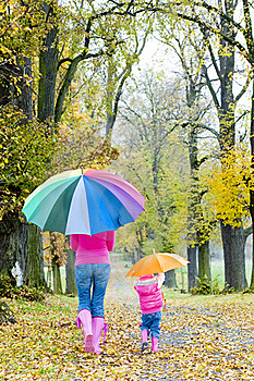 People In Autumnal Alley Stock Photos - Image: 20933453