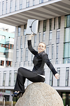 Businesswoman With A Briefcase Royalty Free Stock Photography - Image: 20933637