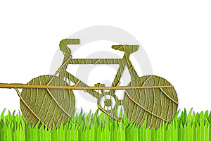 Pushbike From Green Leave Stock Photo - Image: 20933750