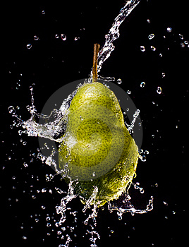 Pear Splash Stock Images - Image: 20936774