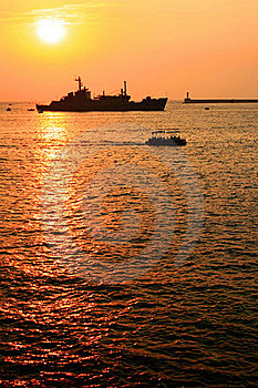 Sunset At Sea Stock Image - Image: 20941841