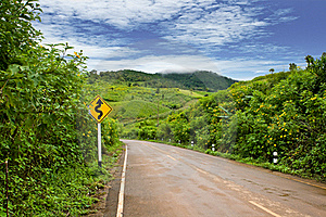 Road Up To The Hill Stock Image - Image: 20947461