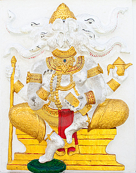 Indian Or Hindu Ganesha God Named Dwija Ganapati Stock Images - Image: 20947844
