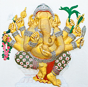 Indian Or Hindu Ganesha God Named Vighna Ganapati Royalty Free Stock Images - Image: 20947889