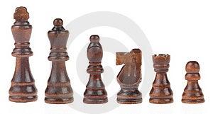 Chess Figures On White Stock Photos - Image: 20948223