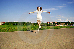 Flying Smiling Girl Stock Photos - Image: 20950003
