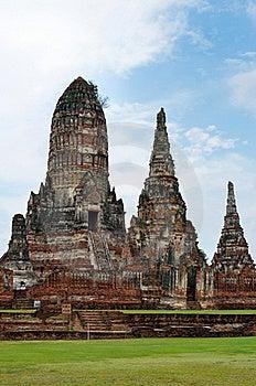 Wat Chai Wattanaram, Ayutthaya, Thailand. Royalty Free Stock Photos - Image: 20950938