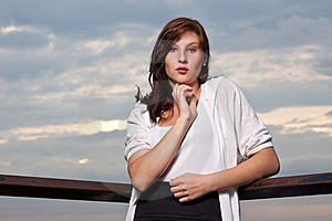Woman At Sunset - Fashion Shoot Stock Image - Image: 20951571