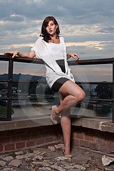 Woman At Sunset - Fashion Shoot Royalty Free Stock Image - Image: 20951586