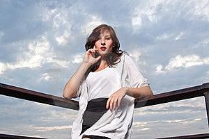 Happy Woman At Sunset - Fashion Shoot Stock Photos - Image: 20951703