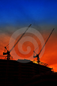 Beautiful Silhouetted Crane Royalty Free Stock Image - Image: 20956926