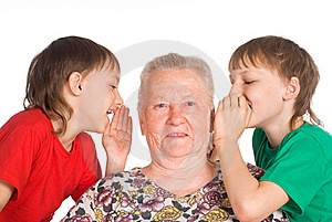 Granny With Grandsons Stock Image - Image: 20957871