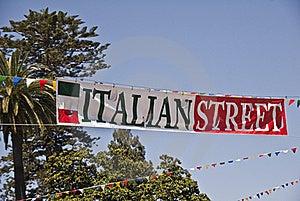 Italian Street Royalty Free Stock Photo - Image: 20959225