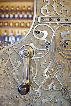 Engraved Cash Register In Shop Royalty Free Stock Image - Image: 20963036