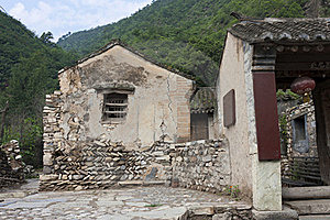 The Old Brick House Of The Ancient Village Royalty Free Stock Photo - Image: 20966705