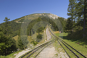 Mountain And Cogwheel Railway Royalty Free Stock Photography - Image: 20969727