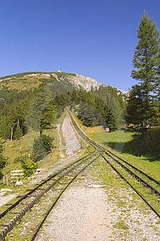 Mountain And Cogwheel Railway (vertically) Stock Photo - Image: 20969740