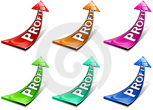 Profit Positive Arrows Royalty Free Stock Photo - Image: 20976935