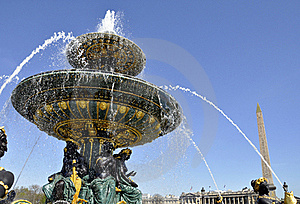 Fountain On The Concorde Square, Paris Royalty Free Stock Images - Image: 20977339