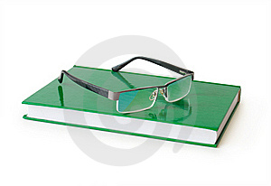 Book With Eyeglasses Stock Images - Image: 20979274