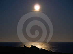 Full Moon Over The Sea Stock Photo - Image: 20981940